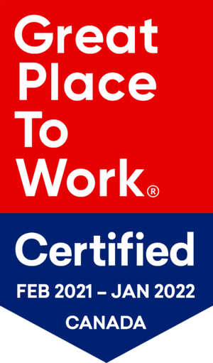 Great Place to Work Certification Badge February 2021